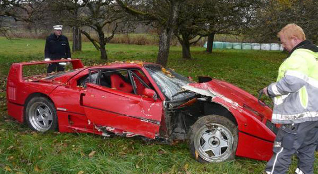 ferrari f40 crash pinnacle auto appraiser appraisal dimished value