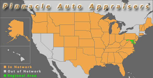 map maryland pinnacle auto appraiser appraisal dimished value inspection